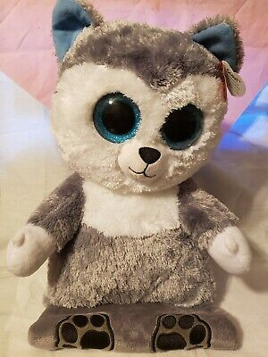SCOUT HUSKY iPAD HOLDER SOFT TOY 30CM TALL X 23CM WIDE TY PEEK-A-BOO TABLET