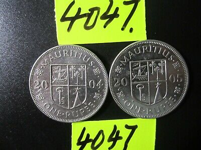 2 x Assorted COINS  Mar4047   MAURITIUS  15 gms