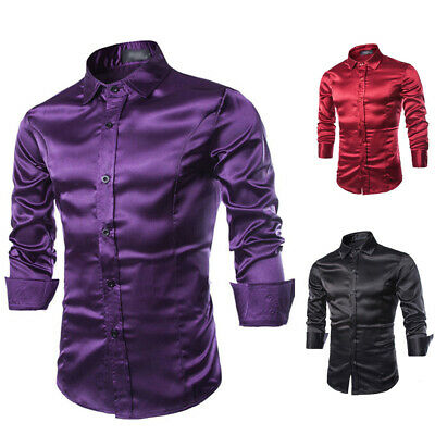 Mens Tops Shirts Casual Shirt Dress Shirts Buttons Cotton Blouse Formal Stylish