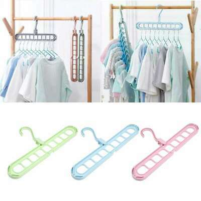 9Hole Household Rotate Anti-skid Folding Hanger Magic Hook Drying Clothes Hanger
