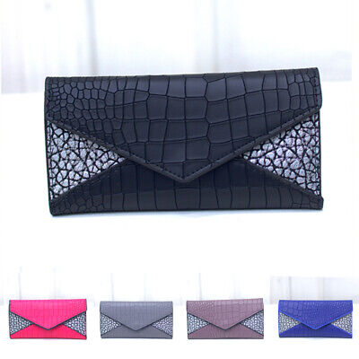 Women Lady PU Leather Clutch Coin Phone Bag Long Purse Wallet Card Holder Mini