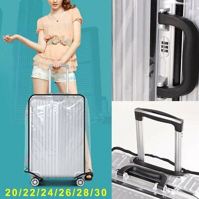 "18""-30"" PVC Transparent Luggage Protector Suitcase Cover Dustproof Waterproof AU"