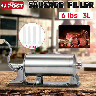 3L 304 Stainless Steel Meat Sausage Filler Stuffer Salami Maker Vertical AU