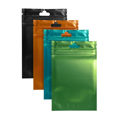 New Front Clear Aluminum Foil Zip Lock Bags Mylar Food Package Pouch Resealable