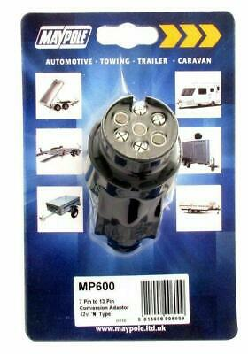 Maypole MP6015 13 Pin 7 Pin Conversion Adaptor Towing Trailer Caravan Connector