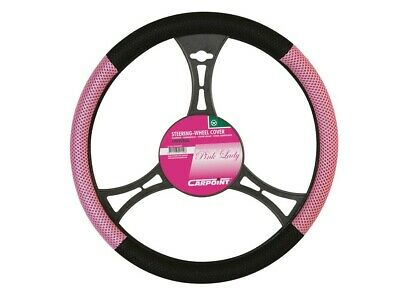 Couvre volant rose / noir  auto voiture camping car tuning