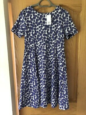 Dorothy Perkins Size 14 Dress Floral Skater Blue White Brand New With Tags