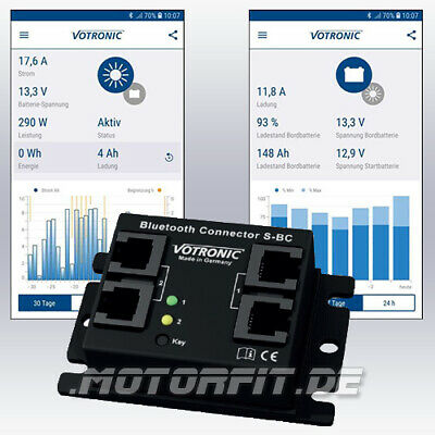 Votronic Bluetooth-Connector S-BC und Votronic Energy Monitor App Android iOS