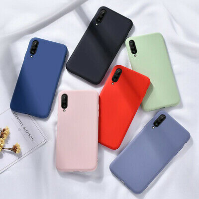 Case For Samsung Galaxy A70 A50 A40 A20e Liquid Silicone Rubber Shockproof Cover