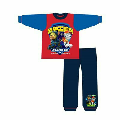 Boys Girls Paw Patrol Pyjamas Red  Blue. Ages 18-24 Months and 2-3,3-4,4-5 Years