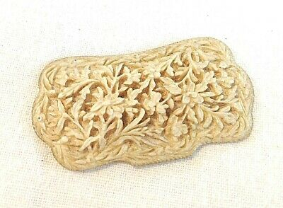 Antique carved panel Chrysanthemums Chinese fine work would make a nice brooch