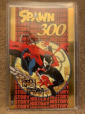 Image NYCC 2019 Spawn Gold Foil Exclusive #300 Signed by Todd Mcfarlane! HOT!