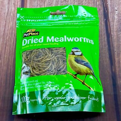Dried Mealworms Wild Garden Bird Feed Food  Meal Worm Chicken Reptile Fish 225g