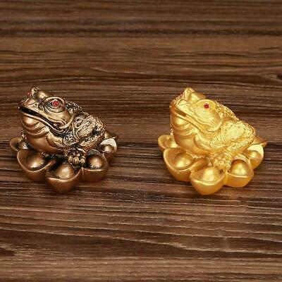 Gold Feng Shui Money LUCKY Fortune Oriental Chinese Coin Frog Toad Dec Hot E4L7