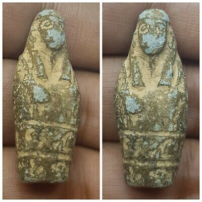 Egyptian mysteries inscription faience old statue