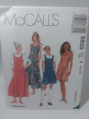 LADIES DRESS-JUMPER IN TWO LENGTHS PATTERN  4-20FF UNCIRCULATED McCALL/'S #8839