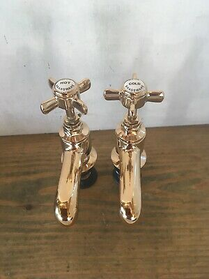 New Traditional Brass Antique Gold Bath Taps Stunning Ideal Roll Top Bath T99