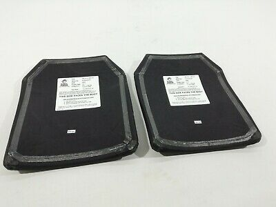 2x Ex Police Square Ballistic Body Armour Plates PAIR Global Armour Protection