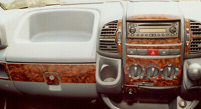 Fiat Ducato / Peugeot Boxer 02 - 06 Walnut Effect Wood Dash Trim Kit