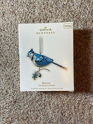 2007 HALLMARK Keepsake BLUE JAY THE BEAUTY OF BIRDS Ornament 3rd in Series Boxed