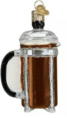 French Coffee Press (32366) Old World Christmas Ornament