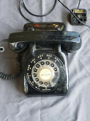 Vintage Automatic Electric Black Rotary Dial Telephone North Lake, IL