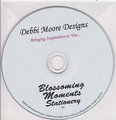 Blossoming Moments Stationery Papercrafting CD by Debbi Moore
