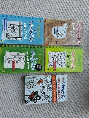 Diary of a Wimpy Kid Collection - 5 Books, 4 Paperback, 1 hardback