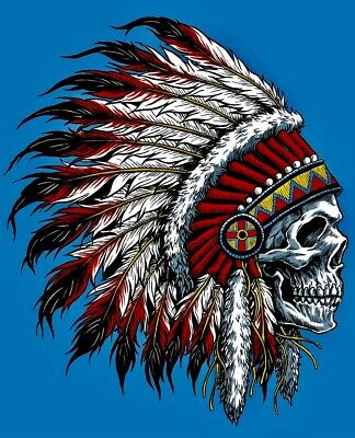 "Grateful Dead: Chief Skull: 3""x3"" Vinyl Sticker. BUY 2 Get 1 Free!"