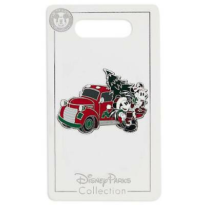 Disney Parks Yuletide Farmhouse Mickey Minnie Holiday Truck Pin New with Card