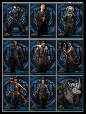 Topps Marvel Collect Card Trader Black Panther Box Character Art [Set 9 Cards]