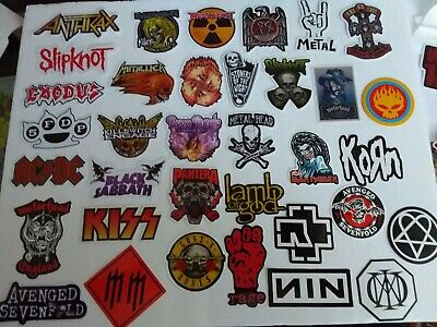 Vintage 70s too 90s Heavy Metal Decal Stickers listing 150