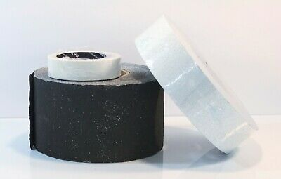 "Bulk Outdoor Pavement Marking Tape of 3- 1 Black 4""-1 2"" White-1 Glow 1""- LOT 19"