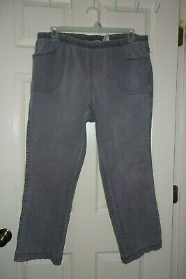 Just My Size JMS Womens Pull On Tapered Leg LGT Washed Denim Jeans 3X 22W-24W  P