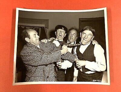 """1953 Three 3 Stooges Orig Studio Photo """"Rip, Sew and Stitch"""" Moe Howard Archive"""