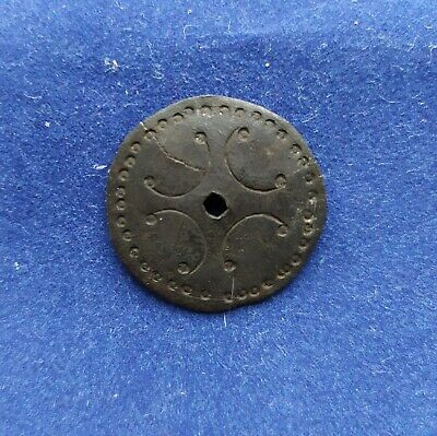 Ancient cross medieval patch Metal detector finds 100% original