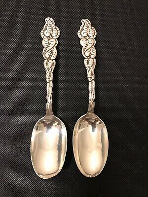 """Pair of Ailanthus by Tiffany & Co Sterling Silver Table,Soup Spoons, 7"""""""