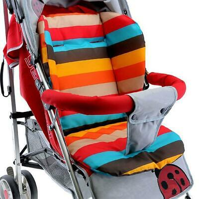 Double-Sided Rainbow Waterproof Baby Stroller Seat Cushion Colorful Soft Mattres
