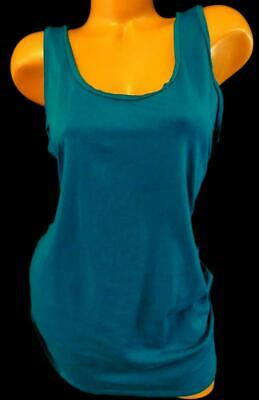 Motherhood teal blue round neck sleeveless women's plus size stretch top XL
