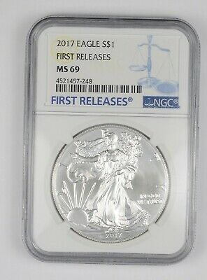MS69 2017 American Silver Eagle - First Releases - Graded NGC *610