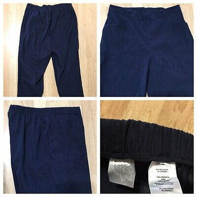 """JMS Just My Size 1X  NWOT Women's Pull-On Pants Inseam 29"""" Elastic Waistband"""