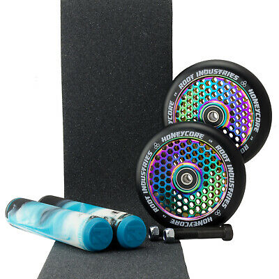 Root Ind Honeycore 110mm NeoChrome Scooter Wheels +Arctic Grips +Tape Bonus Axle