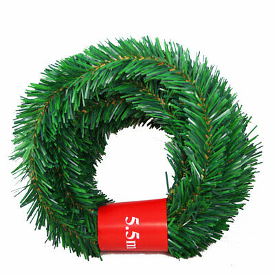 5.5m Pine Christmas Garland Green Garland Artificial Xmas Tree Rattan Decoration