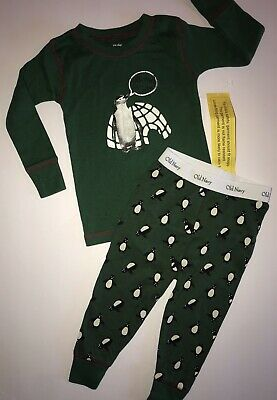 Old Navy 12-18m Baby Boys Penguin Pajamas Not My Bedtime NWT 2pc Igloo Holiday