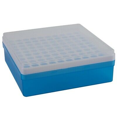 Plastic Square 100 Positions Laboratory 1.5ml Centrifuge Tube Case Box A9H1 B3D