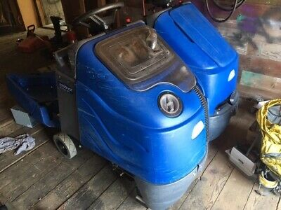 """Windsor Chariot iScrub 20 Ride On Floor Scrubber 20"""" riding cleaner commercial"""