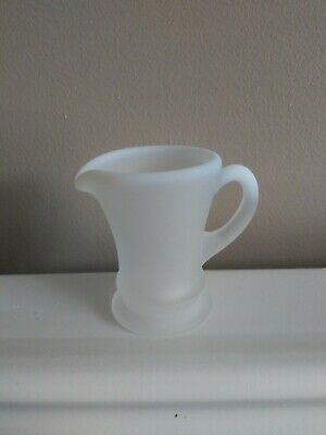 Fenton Mini 37 Vase With Handle French opalescent frosted very hard to find