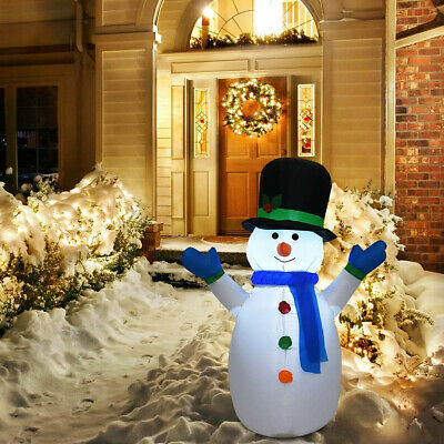 4 Ft Airblown Inflatable Christmas Snowman with Led Light Decor Outdoor Lawn