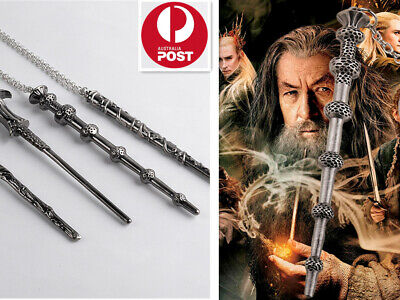 Harry Potter Magical Necklace Wand Chain Cosplay Hermione Dumbledore Voldemort