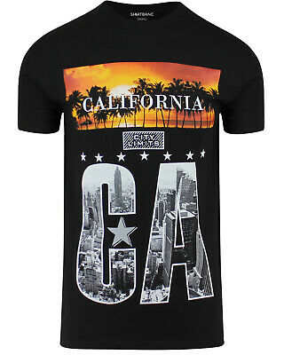 ShirtBANC Original California City Limits Mens Shirt Los Angeles Skyline Tee